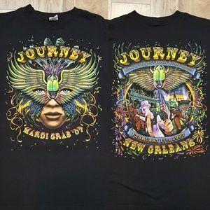 Rare Journey Concert T Shirt 2007 Mardi Gras Sz L